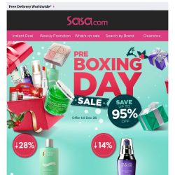 [SaSa ] 【Hurry Up】Pre-Boxing Day Sale Up to 95% OFF!