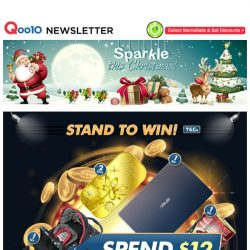 [Qoo10] Free Giveaways and Golden Rewards Are Up For Grab As We Get Ready To Sparkle This Christmas!