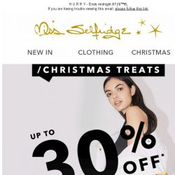 [Miss Selfridge] Up to 30% off winter essentials!