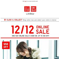 [UNIQLO Singapore] 12/12 Online Sale Starts Now!