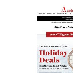 [Ashford] The Largest Holiday Sales Event NOW LIVE
