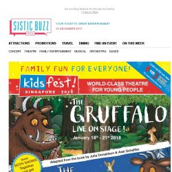 [SISTIC] The Gruffalo & The Gruffalo's Child! Fantastic family fun at KidsFest 2018! BOOK NOW!
