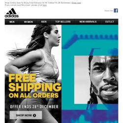 [Adidas] Don't Miss Out: Free Delivery On All Orders