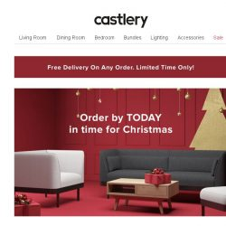 [Castlery] 2 Days left for last minute Christmas furniture shopping!