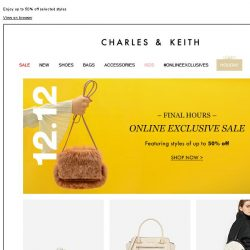 [Charles & Keith] 12.12 | FINAL HOURS