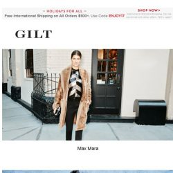 [Gilt] Max Mara, Stella McCartney: Up to 50% Off and More Start Now