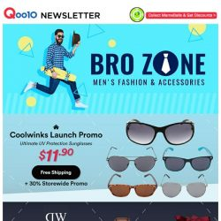 [Qoo10] Coolwinks Official Launch ~ The Ultimate UV Protection Sunglasses From $11.90