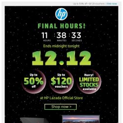 [HP Singapore]  Last day of up to 50% off Astronomical Sale!