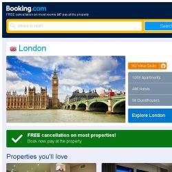 [Booking.com] Prices in London are dropping for your dates!