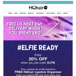 [HQhair] #Elfie Ready | Save 20% Inside + Free Gift