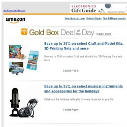 [Amazon] Save up to 35% on select Craft and Model Kits,...