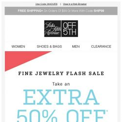 [Saks OFF 5th] Your Badgley Mischka item is waiting + EXTRA 50% OFF Fine Jewelry: let the spark(le)s fly!