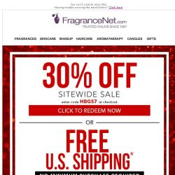 [FragranceNet] 30% off + Free Shipping - Your gifts, your choice