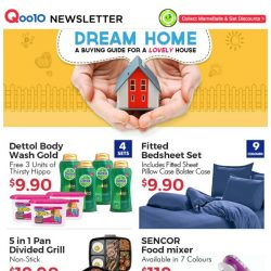 [Qoo10] [TGIF DEALS] $9.90 Fitted Bedsheet Set, $11.90 for 3 Philips LED Bulbs & $19.90 5-in-1 Divided Grill Non-Stick Pan