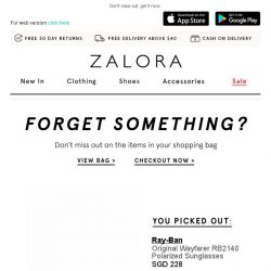 [Zalora] Get your Ray-Ban item now!
