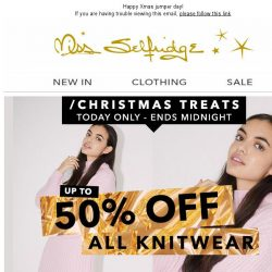[Miss Selfridge] Up to 50% off ALL knitwear