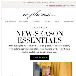 [mytheresa] It's time to find your new-season essentials...  + Sale