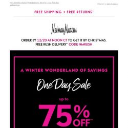 [Neiman Marcus] Up to 75% off today only!