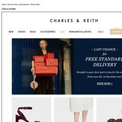 [Charles & Keith] LAST CHANCE – For Free Standard Delivery