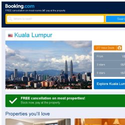 [Booking.com] Deals in Kuala Lumpur from S$ 92