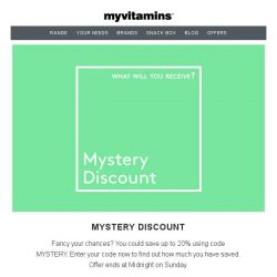 [MyVitamins] FREE Protein and an Extra 20% Off