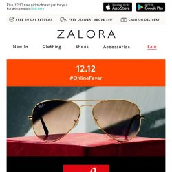 [Zalora] Ray-Ban up to 35% off: For your eyes only!