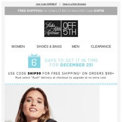 [Saks OFF 5th] Take an EXTRA 50% OFF the outerwear you need now