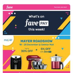 [Fave] What's on FavePay this week?