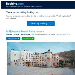 [Booking.com] Mövenpick Resort Petra – are you still interested in staying?