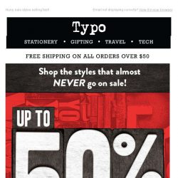 [typo] Up to 50% off online!