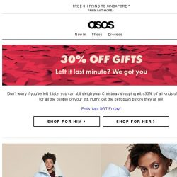 [ASOS] 30% off gifts – don't miss out!