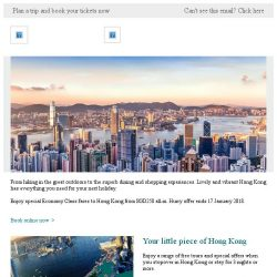 [Cathay Pacific Airways] Your 2018 travel ✈ Hong Kong from SGD258 all-in