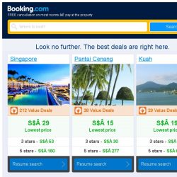 [Booking.com] Singapore, Pantai Cenang and Kuah -- great last-minute deals as low as S$ 15!
