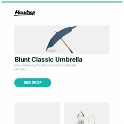 [Massdrop] Blunt Classic Umbrella, Fox Limited-Edition 479 Folding Karambit Knives, Platypus GravityWorks Water Filter Systems and more...