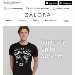 [Zalora] TGIF: Superdry up to 60% off!
