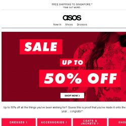 [ASOS] Up-to-50%-off sale!