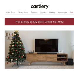 [Castlery] At home with Castlery- A Christmasy sort of Living Room