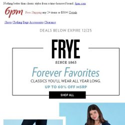 [6pm] Up To 60% Off Frye (Treat Yourself)!