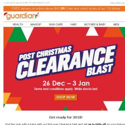 [Guardian] 📢 Clearance sale up to 60% off! Grab your favorites before their gone.