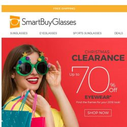[SmartBuyGlasses] Get up to 70% OFF new eyewear during our Christmas clearance sale!