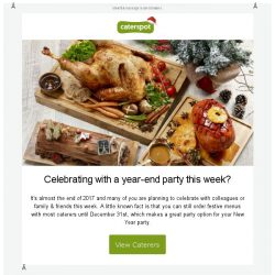 [CaterSpot] New Years catering & exclusive promos on CaterSpot