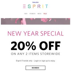 [Esprit] Stock Up for the New Year and save