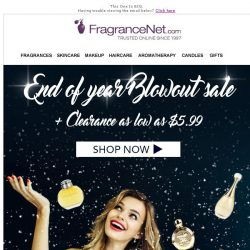 [FragranceNet] The End of Season Blowout Sale + Clearance as low as $5.99