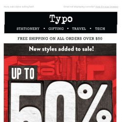 [typo] LAST CHANCE to get the best at 50% OFF!