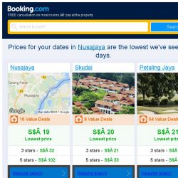 [Booking.com] Prices in Nusajaya dropped again – act now and save more!