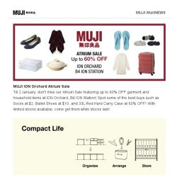 [Muji] MUJI ION Orchard Atrium Sale Now On!