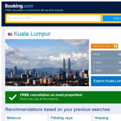 [Booking.com] Deals in Kuala Lumpur from S$ 13