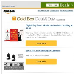 [Amazon] Digital Day Deal: Kindle best-sellers, starting...
