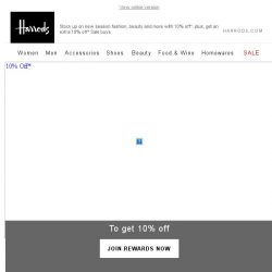 [Harrods] 10% Off* All-New Fashion, Beauty & More