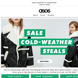 [ASOS] Up to 70% off cold-weather steals